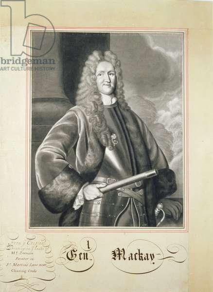 Portrait of Hugh Mackay, 17th century (brush and wash on paper)