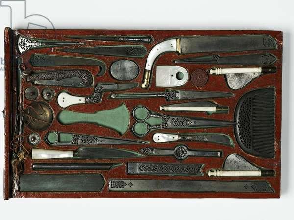 Tool kit depicting the Holy Family, c.1830 (mixed media)
