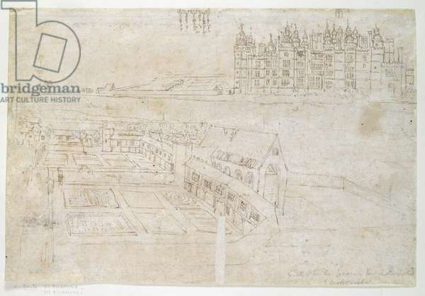 Privy Gardens, Richmond Palace, c.1544 (pen and ink on paper)