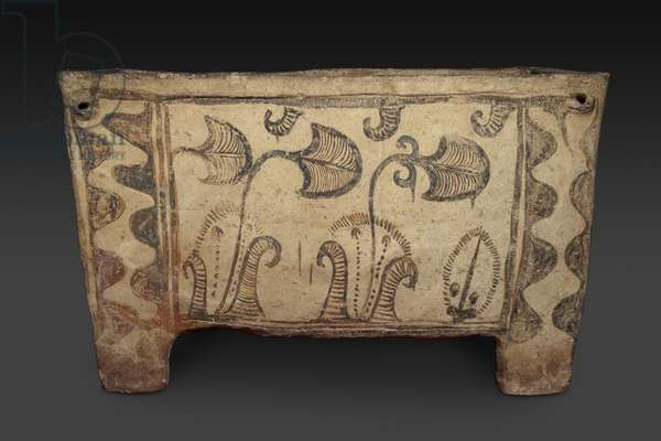 Painted Coffin, Knossos, Crete, c.1500 BC (painted earthenware) (for reverse see 419818)