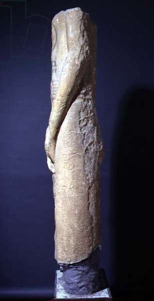 Statue of Min, view from the right side (stone)