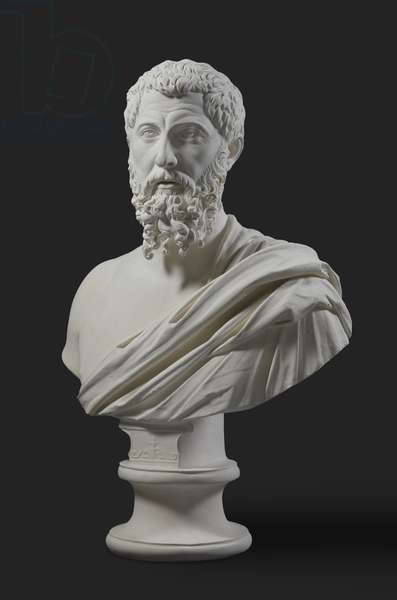 Cast of bust of a bearded man, Smyrna, Turkey, original dated AD 170-200 (plaster)