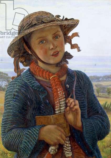 The School-Girl's Hymn, 1859 (oil on panel)
