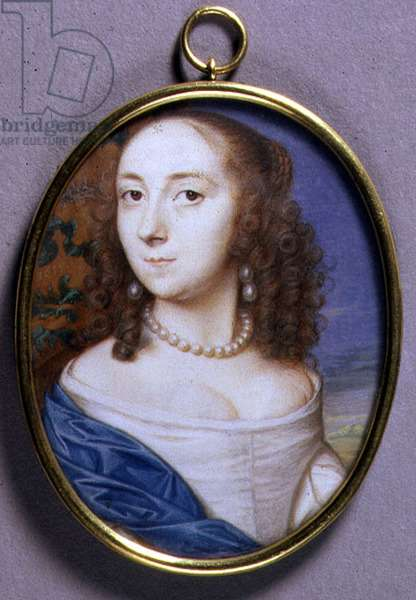 Portrait Miniature of Lady Margaret Coventry, 1655 (w/c on vellum)