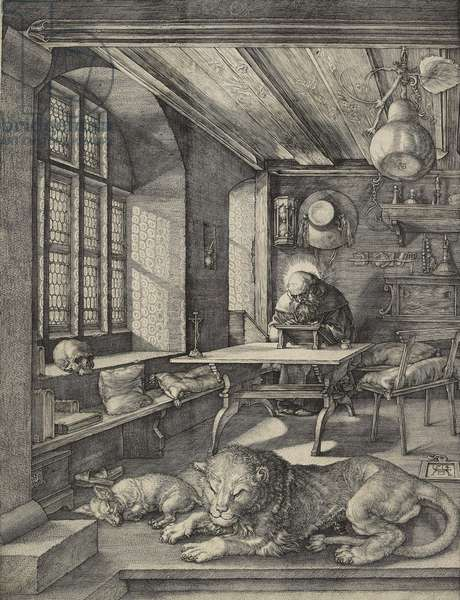 St Jerome in his study, 1514 (engraving)