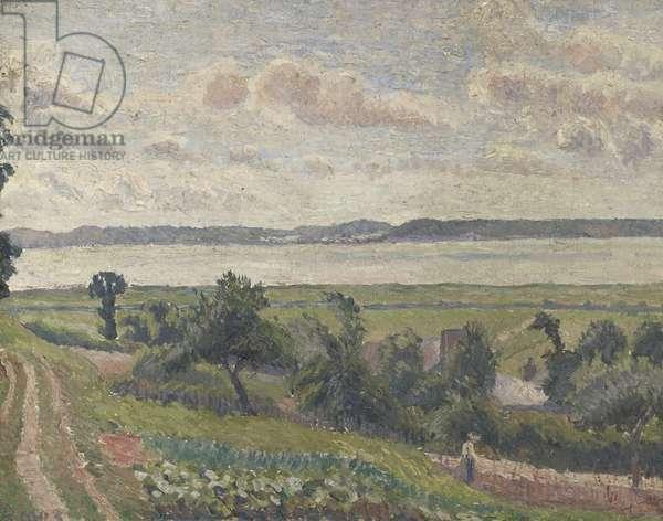 View over the Estuary, Harfleur, 1903 (oil on canvas)