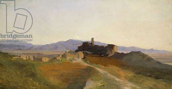 View of Olevano (oil on canvas)