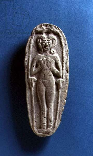 Plaque depicting a female figure, possibly Babylonian, c.1750-00 BC (terracotta)