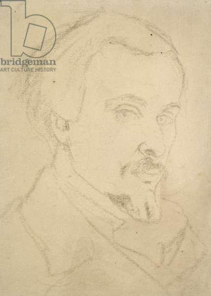 Self-portrait (brown chalk on buff paper)