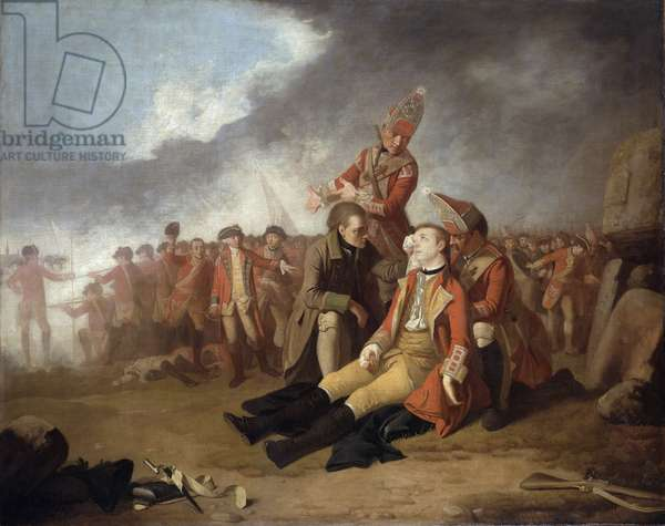The Death of General Wolfe, 1763 (oil on canvas)