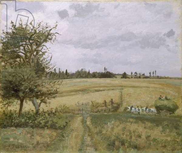 Landscape at Pontoise, 19th century (oil on canvas)