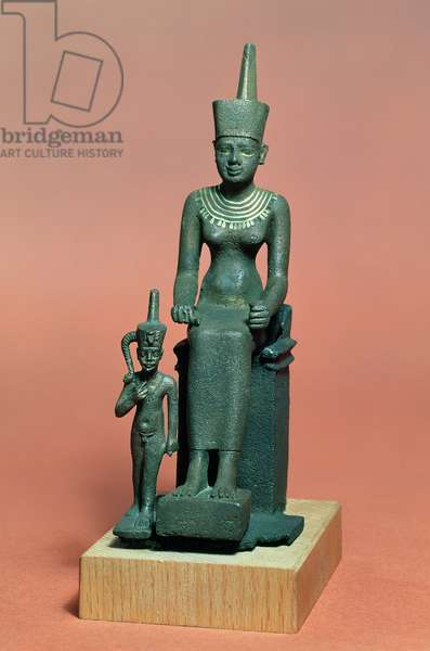 Figurines of Isis and Horus (bronze)