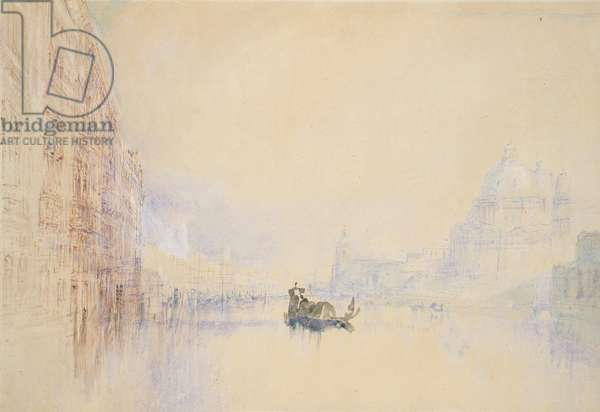 Venice: the Grand Canal, 1840 (watercolour over graphite with bodycolour and pen and red ink)