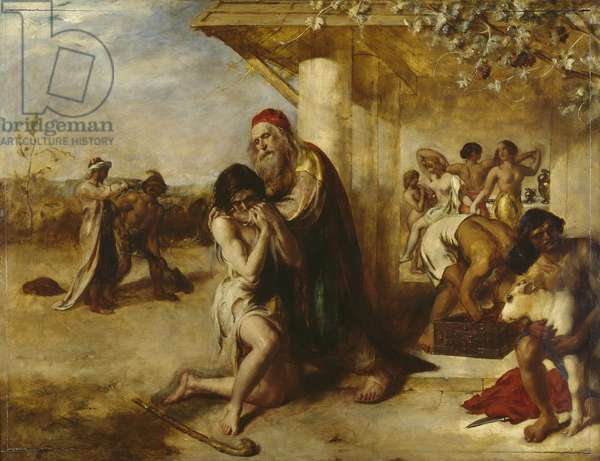 The Repentant Prodigal's Return to his Father (oil on panel)