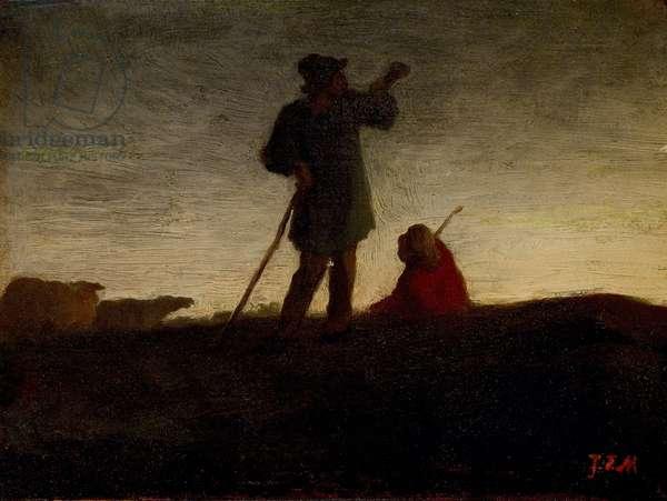 Recalling the Flock, 1866-72 (oil on panel)