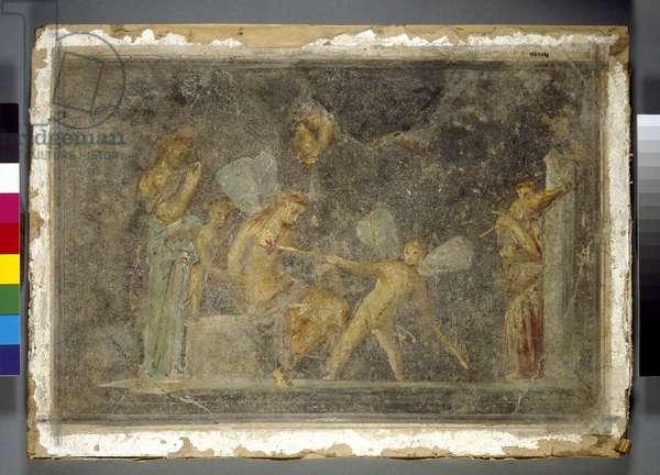 Wall painting, Pompeii, Roman, 1st century (fresco)