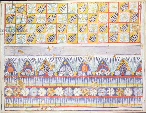 Copy of a ceiling pattern in an Egyptian tomb