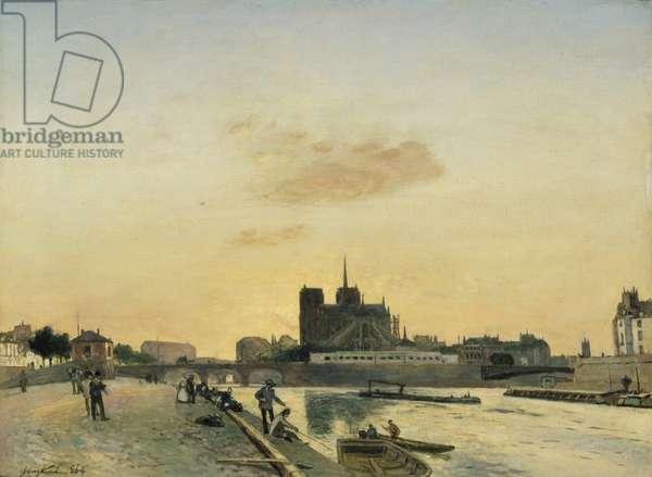 View of Notre Dame, Paris, 1864 (oil on canvas)