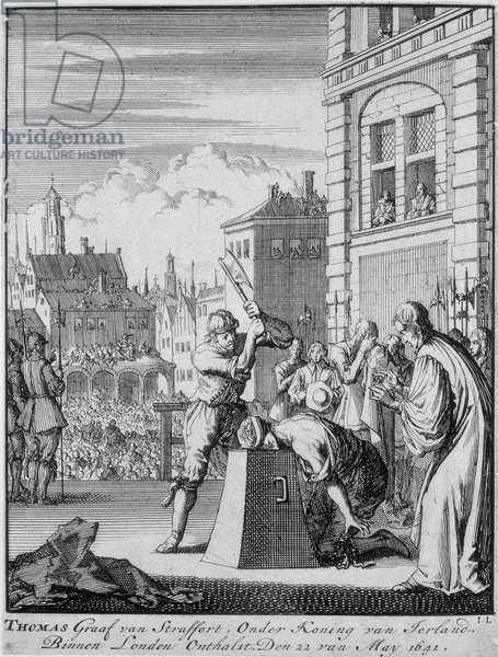 The Execution of the Earl of Strafford (1593-1641) on Tower Hill, 12th May 1641 (engraving)