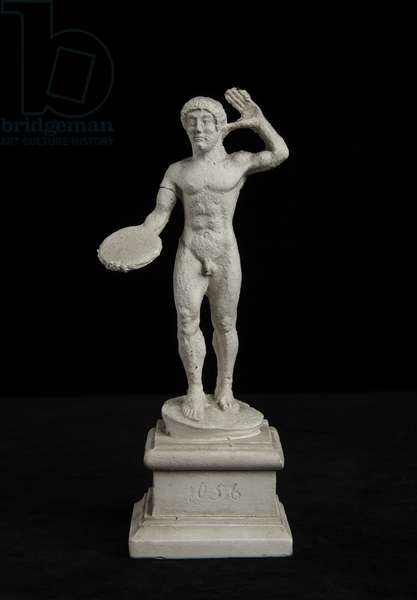 Cast of statuette of discus-thrower, from Vienna, original dated 1st half of the 5th century BC (plaster)
