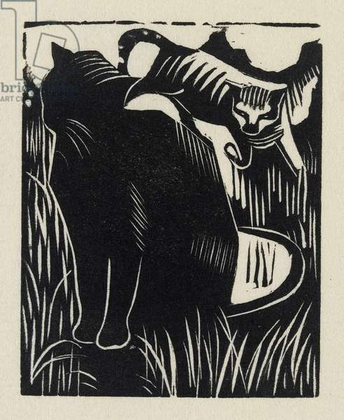 Amorphous Approach, 1919 (wood engraving)