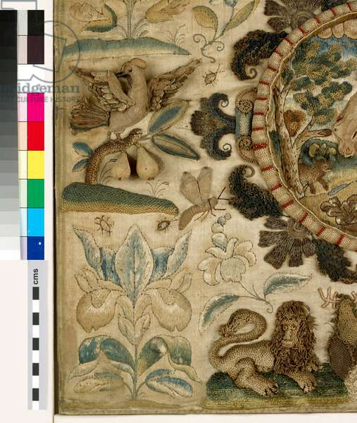 Textile panel with The Sacrifice of Isaac, 1673