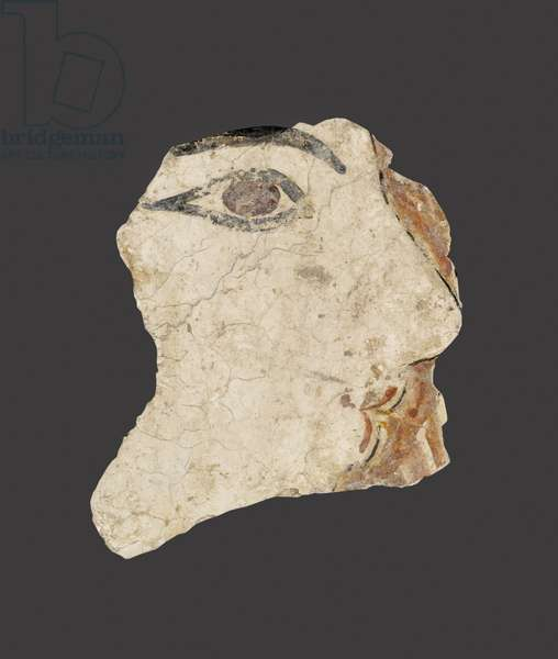 Fragment of a fresco depicting a woman's face, Late Minoan I Period (fresco)
