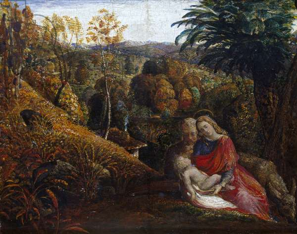 The Rest on the Flight into Egypt, 19th century (oil on panel)