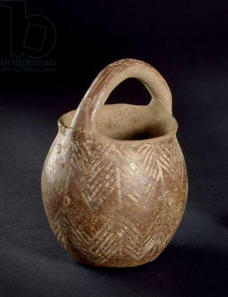 Simple jar with loop handle (fired clay)
