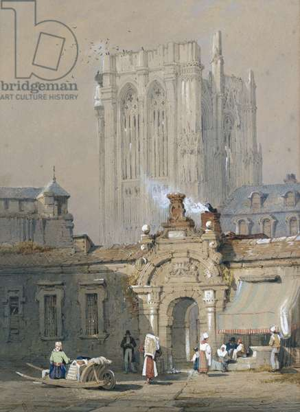 The Old Tower, Cologne Cathedral (watercolour heightened with white bodycolour)