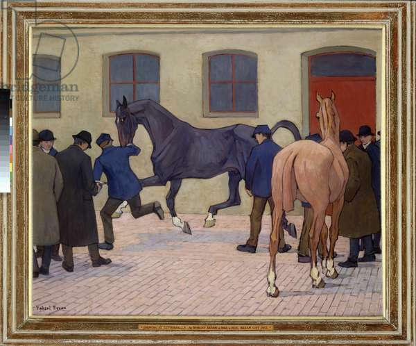 Showing at Tattersalls (oil on canvas)