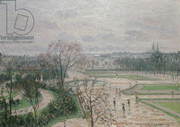 The Garden of the Tuileries in Rainy Weather, 1899 (oil on canvas)
