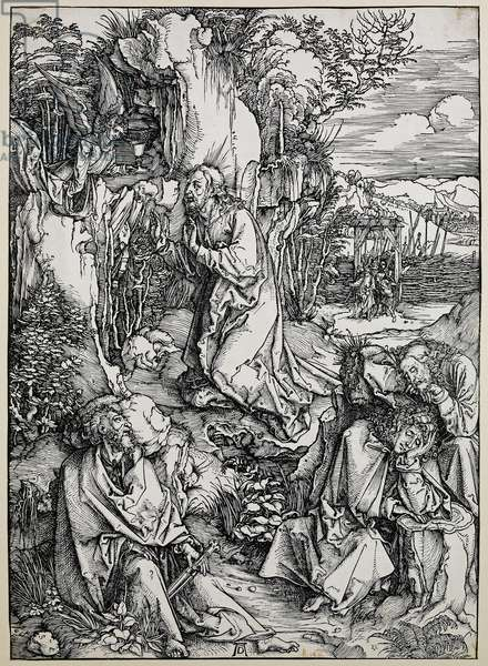 Christ on the mount of olives, 1496/99 (woodcut with some old repairings in ink)