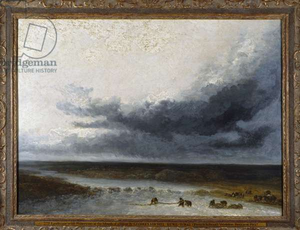 Landscape with Fishermen at the Mouth of a River (oil on canvas)