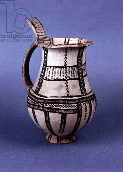Jug from late Cypriot II period, late Bronze Age (decorated pottery)