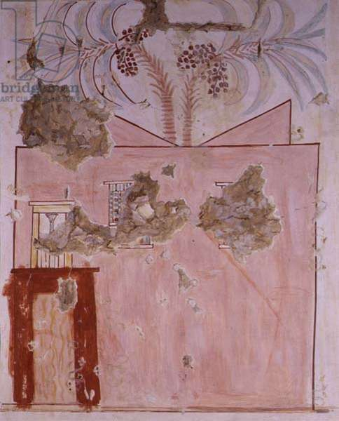 Copy of wall painting of 'The House of the Deceased' from Thebian tomb 90