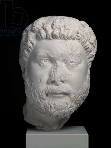Cast of head from portrait statue of Oecumenius, Aphrodisias, original dated AD 400 (plaster)