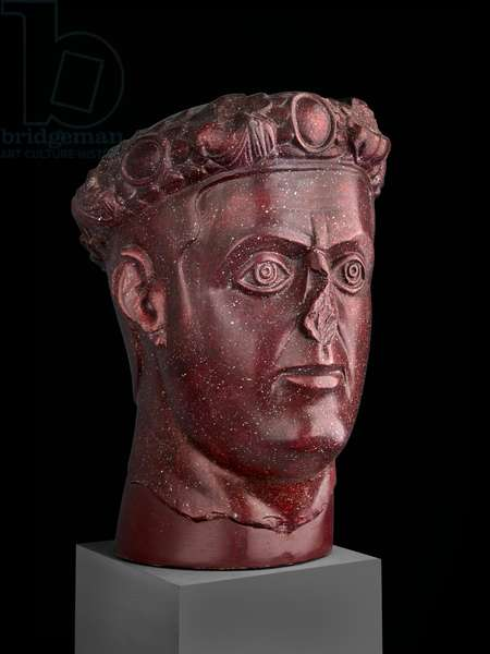 Cast of head of Tetrarch, probably Galerius, from Gamzigrad, Serbia, original dated AD 310 (plaster)