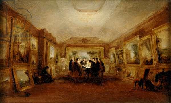 Turner's Body lying in State, 29 December 1851, post 1851 (oil on millboard)