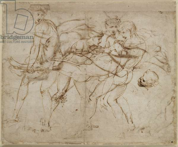 Recto: The Death of Meleager or the Death of Adonis , WA1846.180 (pen & brown ink over some leadpoint)