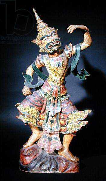 Bilu Figure, c.1900 (stained wood)