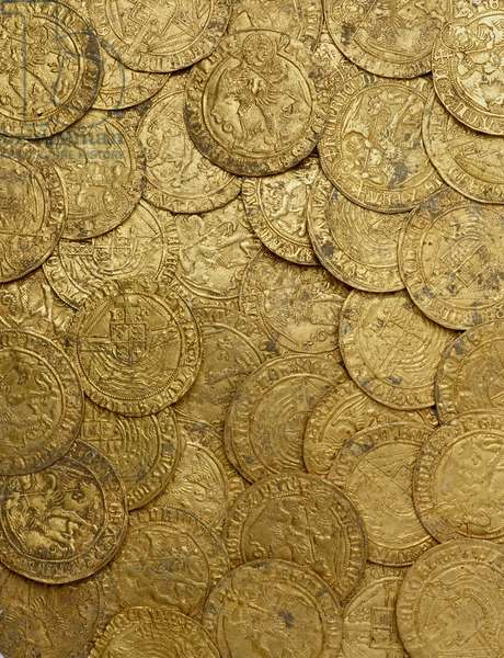 Complete Tudor gold hoard, the Asthall Hoard, from Asthall, 1470-1526 (gold)