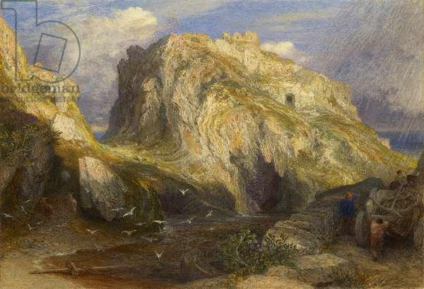 Tintagel Castle, Approaching Rain, 19th century