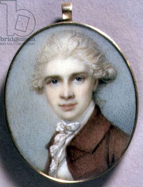 Portrait Miniature of a Young Man in a Brown Coat, 1780s (w/c on ivory)