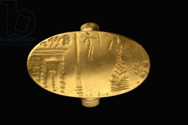 Seal Ring, Late Minoan, c.1500 BC (gold)
