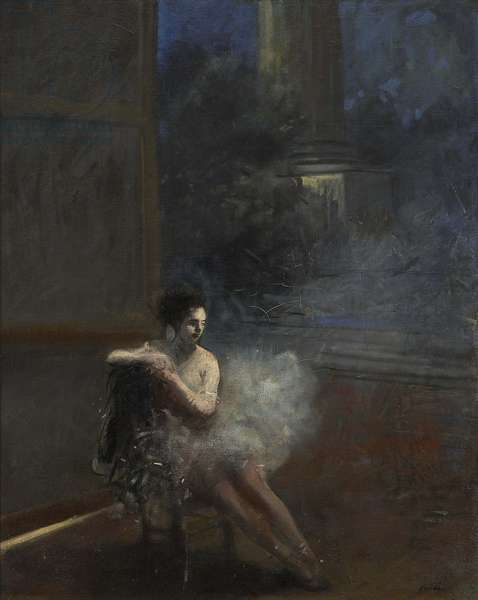 Seated Dancer (oil on canvas)