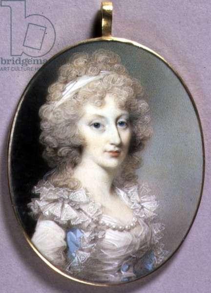 Portrait Miniature of Elizabeth Blunt, c.1796-1800 (w/c on ivory)