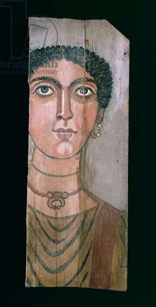 Mummy portrait, 90-110 AD (painted wood)