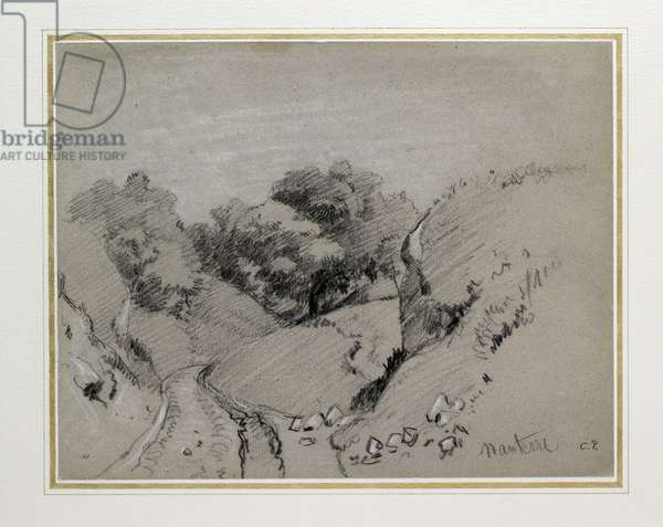 Nanterre, c. 1860 (charcoal heightened with white chalk on grey paper)