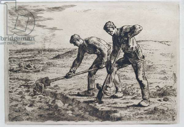 The Diggers, 1855 - 1856 (etching)